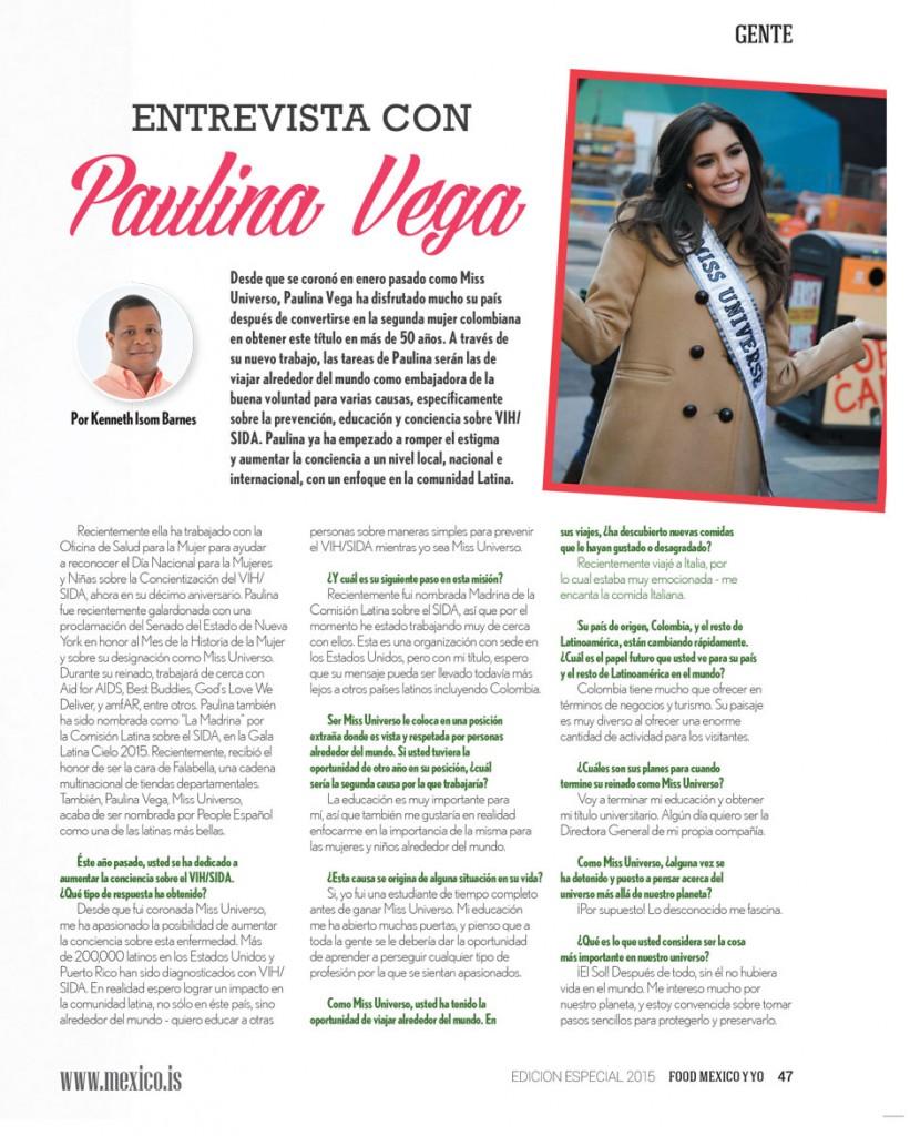 Entrevista Paulina Vega